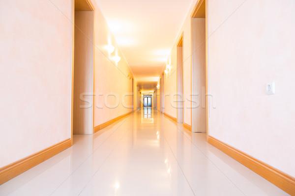 üres hotel folyosó hosszú folyosó iroda Stock fotó © Len44ik