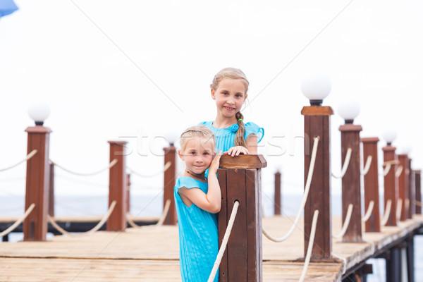 Portrait of beautiful little girls Stock photo © Len44ik