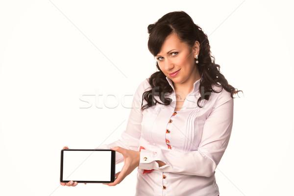 Jóvenes atractivo mujer de negocios toque Foto stock © Len44ik