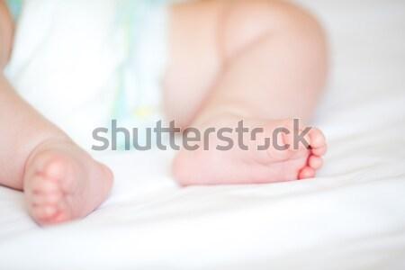 Yeni doğmuş bebek ayaklar sığ Stok fotoğraf © Len44ik