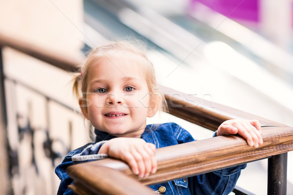 Sevimli küçük çocuk alışveriş Stok fotoğraf © Len44ik
