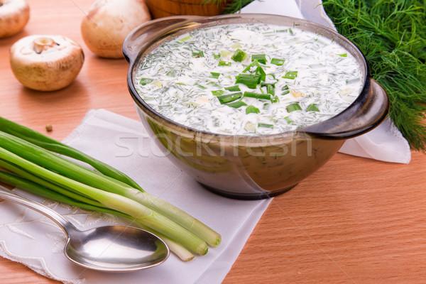 холодно йогурт суп желток русский традиционный Сток-фото © Len44ik