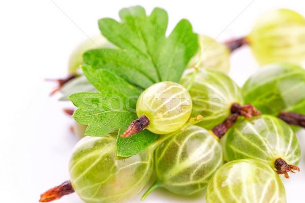 Folhas branco isolado comida fruto jardim Foto stock © Len44ik