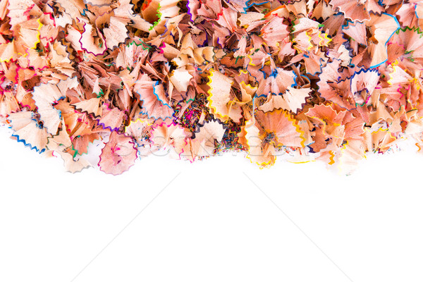 Color pencils shavings Stock photo © Len44ik
