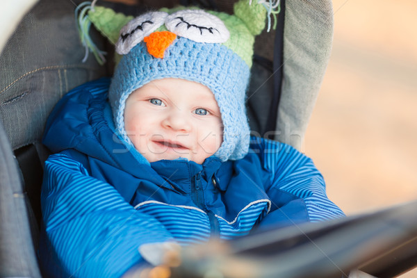 Cute little baby in a stroller Stock photo © Len44ik