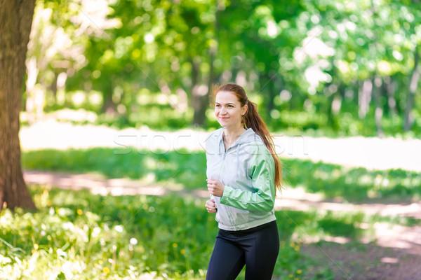 Fit sportive women jogging in the park Stock photo © Len44ik