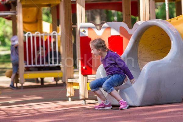 美しい 女の子 屋外 遊び場 夏場 少女 ストックフォト © Len44ik