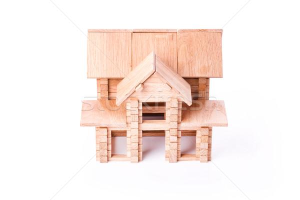 Toy wooden house isolated on white Stock photo © Len44ik