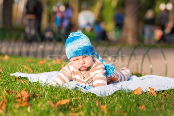 Bonitinho pequeno bebê parque adorável seis Foto stock © Len44ik