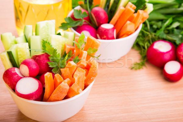 Verse groenten klaar eten vers gezonde sappig Stockfoto © Len44ik