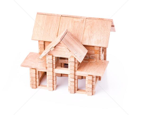 Zabawki domu odizolowany biały budynku Zdjęcia stock © Len44ik