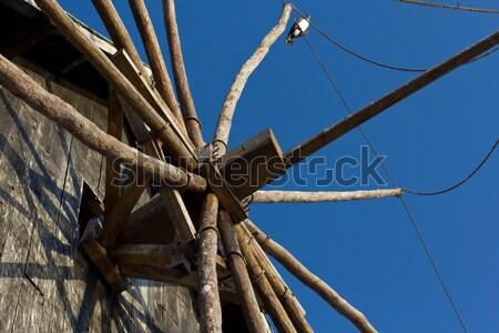 ストックフォト: クローズアップ · 風車 · 表示 · 古代 · 市