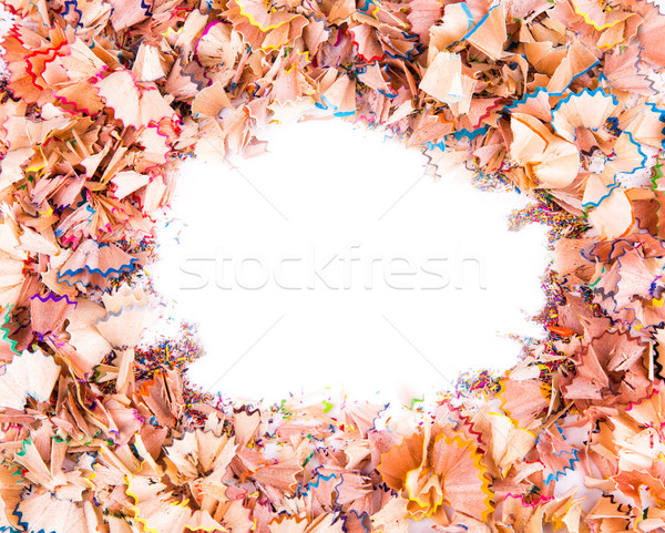 Color pencils shavings Stock photo © Len44ik