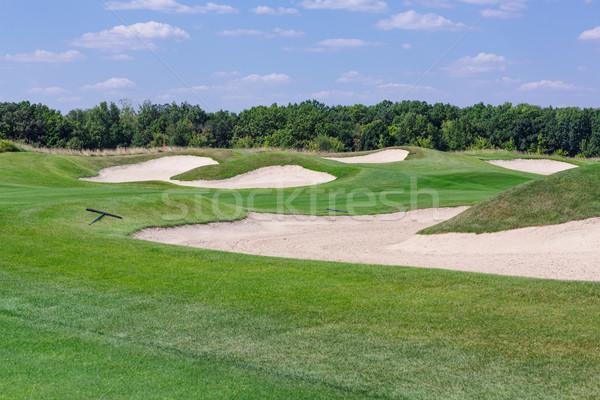 идеальный волнистый зеленый землю гольф Nice Сток-фото © Len44ik