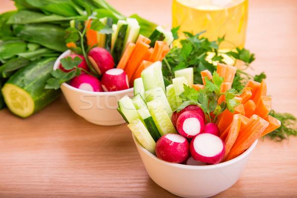 Foto d'archivio: Verdure · fresche · pronto · mangiare · fresche · sani · succosa