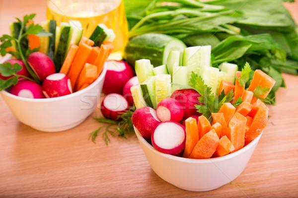 Verduras frescas listo comer frescos saludable jugoso Foto stock © Len44ik