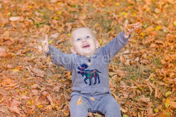 Cute baby eerste najaar kinderen Stockfoto © Len44ik
