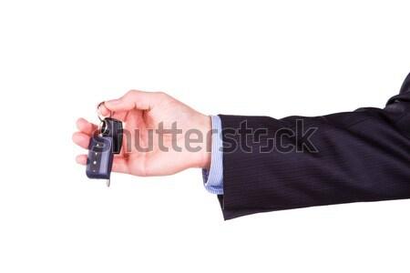 Mannelijke hand geïsoleerd Stockfoto © Len44ik