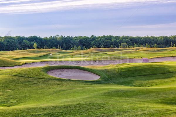 Foto d'archivio: Perfetto · ondulato · verde · terra · campo · da · golf · nice