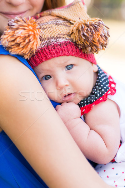 Beautiful mother and baby outdoor. Stock photo © Len44ik
