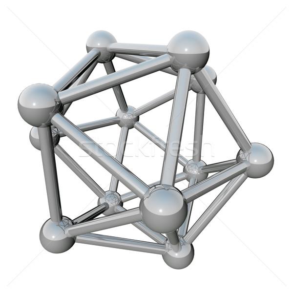 Absztrakt molekuláris izolált fehér fém tudomány Stock fotó © lenapix