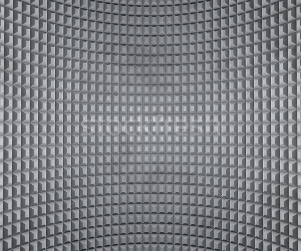 Grey inflected wall with extruded squares texture. Stock photo © lenapix