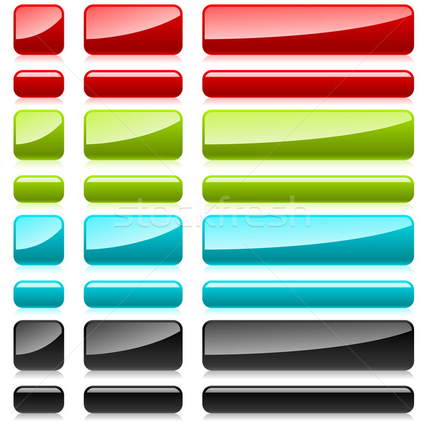 Renk plastik dikdörtgen biçiminde düğmeler web tasarım ışık Stok fotoğraf © lenapix