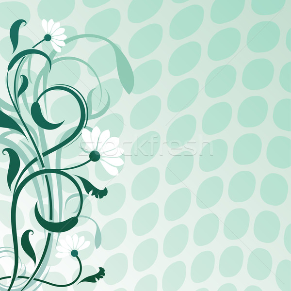 Abstract daisywheel flower vector background with copy space. Stock photo © lenapix