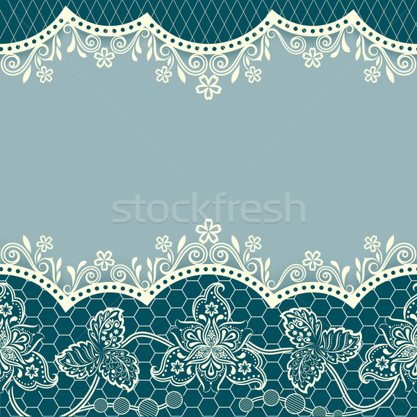 Abstract blue floral vintage card design with copy space. Stock photo © lenapix