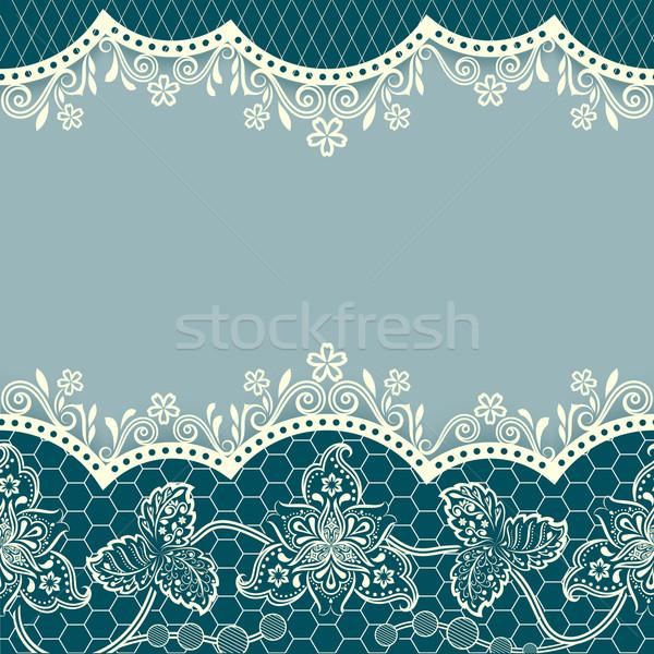 Abstract blu floreale vintage copia spazio Foto d'archivio © lenapix