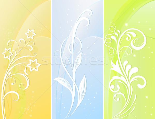 вертикальный цвета цветочный вектора Баннеры ярко Сток-фото © lenapix