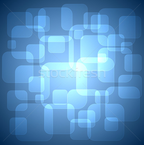 Rounded squares blue background . Stock photo © lenapix