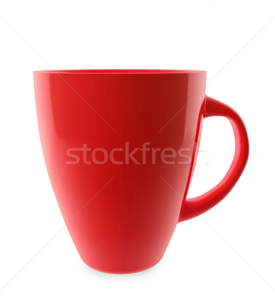 Traditional red tea cup isolated on white. Stock photo © lenapix