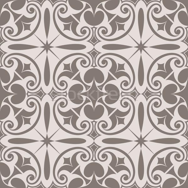 Abstract naadloos beige vector patroon Stockfoto © lenapix