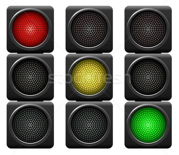 Traffic lights isolated on white background. Stock photo © lenapix
