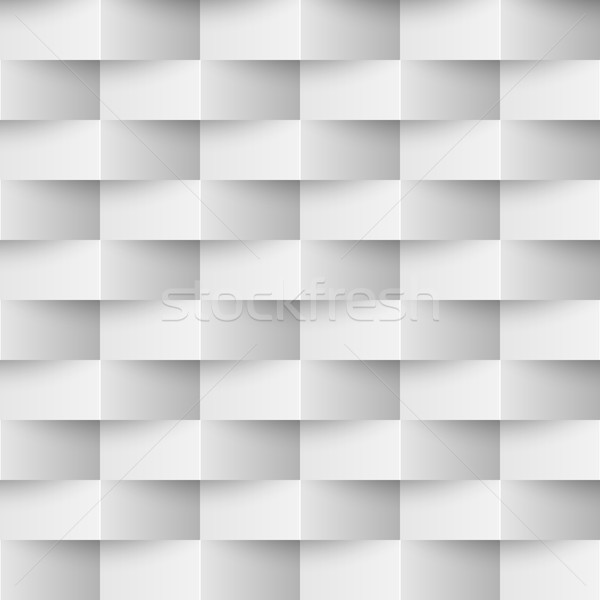 Seamless 3D textured white wall vector background. Stock photo © lenapix