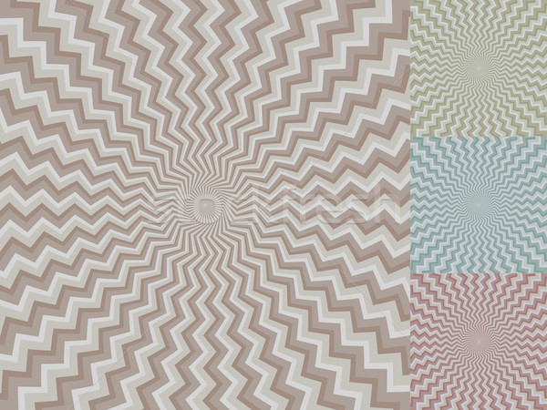 Circular zig-zag stripe vector background with color variants. Stock photo © lenapix