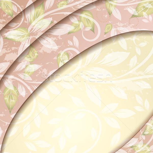 цветочный вектора орнамент копия пространства цветок весны Сток-фото © lenapix