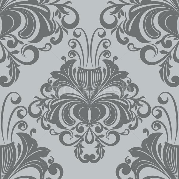 Naadloos vintage grijs vector behang Stockfoto © lenapix