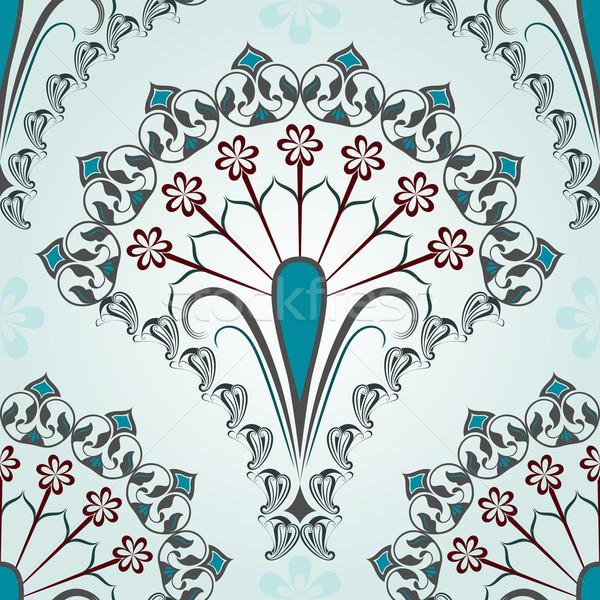 Senza soluzione di continuità blu floreale vettore pattern fiore Foto d'archivio © lenapix