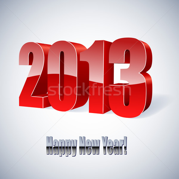 New 2013 year glossy figures vector illustration.  Stock photo © lenapix