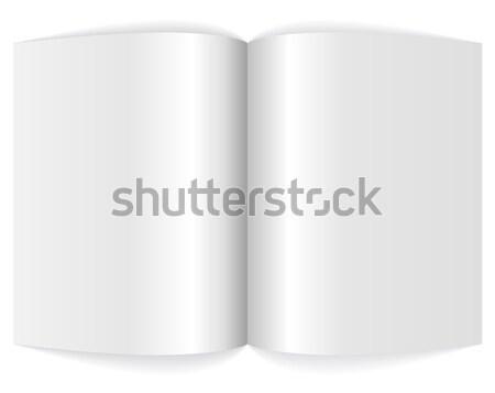 Spreadsheet of blank magazine. Stock photo © lenapix