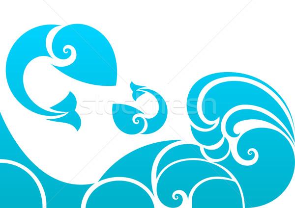 аннотация морем волна рыбы дизайна Сток-фото © lenapix