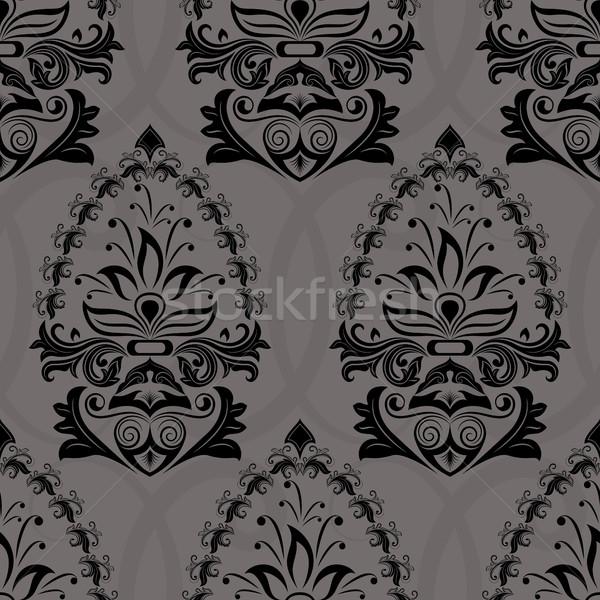 Senza soluzione di continuità buio retro wallpaper vettore pattern Foto d'archivio © lenapix