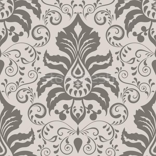 Seamless ornate vintage wallpaper pattern Stock photo © lenapix
