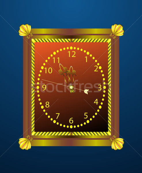Vintage mur horloge mains autour minuit Photo stock © lenapix