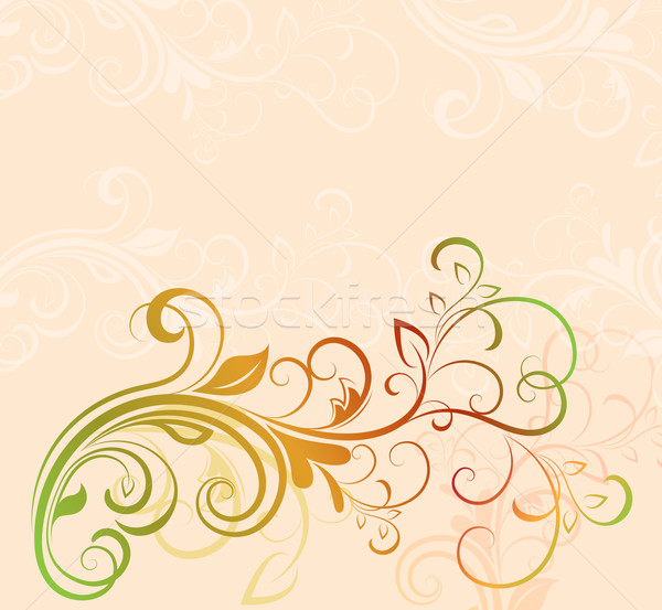 Colorful floral vector background with copy space. Stock photo © lenapix