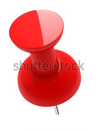 3D red glossy thumbtack isolated in white background. Stock photo © lenapix