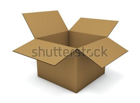 Empty cardboard box isolated on white background. Stock photo © lenapix