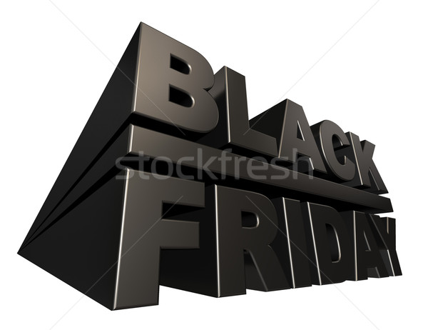 Black friday 3D banner sjabloon geïsoleerd witte Stockfoto © lenapix